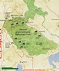 THE AREA MAP OF BWINDI NATIONAL PARK